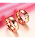 ékszer webshop Rozé arany női titánium karikagyűrű, cirkónia