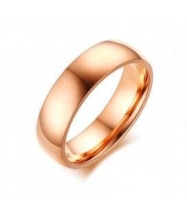 ékszer webshop Férfi titánium karikagyűrű rozé arany bevonattal