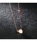 ékszer webshop nemesacél szív és kulcs medál nyakláncon - Rozé