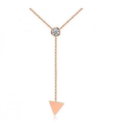 ékszer webshop Elegáns titánium nyaklánc háromszög formával