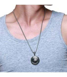 ékszer webshop Hórusz szeme acél medál nyaklánccal