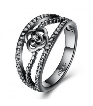bf92ecdaf Fekete rózsa, kristályos gyűrű