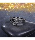 ékszer webshop Fekete rózsa, kristályos gyűrű
