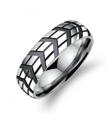 ékszer webshop Titánium férfi gyűrű fekete bevonattal