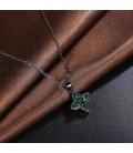 ékszer webshop Fekete bevonatú virág medál nyaklánccal