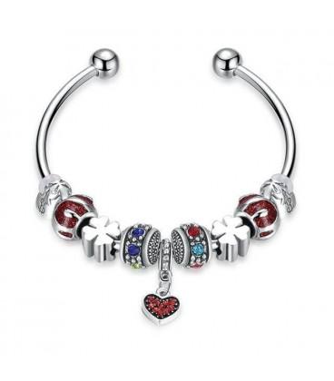 6b88b876ac Különleges Pandora stílusú karperec színes charmokkal olcsó áron az...