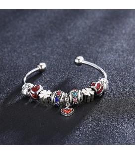Pandora stílusú karperec színes charmokkal