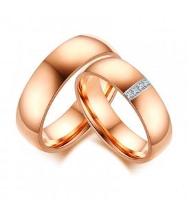 Férfi titánium karikagyűrű rozé arany bevonattal