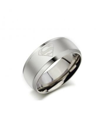 Superman - férfi nemesacél karikagyűrű
