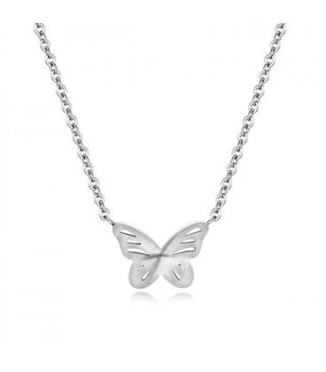 Nemesacél pillangó nyaklánc