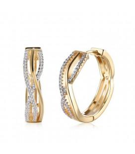 Karika gold filled fülbevaló kristályokkal