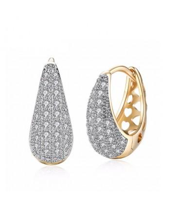 Gold filled csepp fülbevaló apró cirkónia kövekkel
