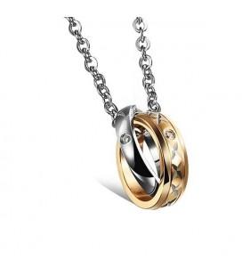 Páros Nyaklánc Szerelmeseknek - Karikagyűrű Pár