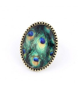 Pávatollas vintage gyűrű