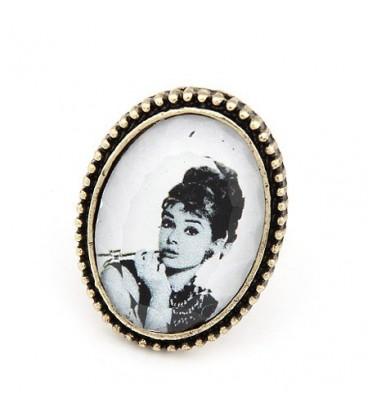 ékszer webshop Audrey Hepburn arcképes vintage gyűrű