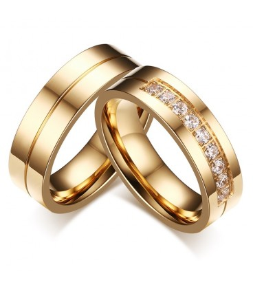 Klasszikus stílusú nemesacél férfi karikagyűrű