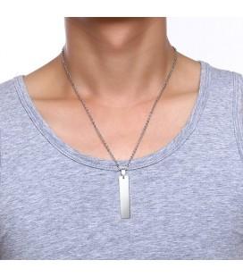 Gravírozható nemesacél medál nyaklánccal - basic