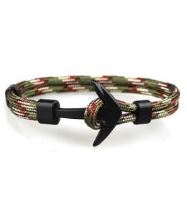 Anchor karkötő fekete horgonnyal - zöld-piros-fehér színben