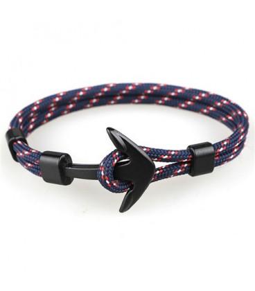 Anchor karkötő fekete horgonnyal - kék-piros-fehér színben