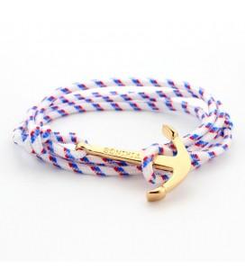 Páros Anchor karkötő - fehér-piros-kék színben