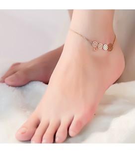 Fogaskerekek nemesacél bokalánc  - rozé arany