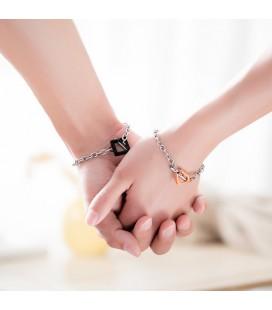 Love & Hope nemesacél karkötő szett pároknak