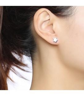 Nemesacél csillag fülbevaló szett (5 pár)