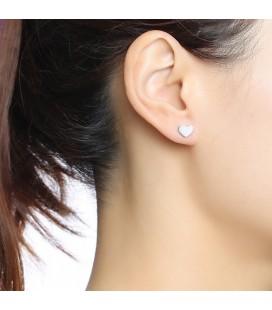 Nemesacél szív fülbevaló szett (5 pár)