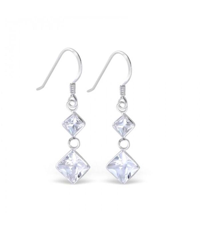 alacsony áron eladás jó textúra futócipő ✅ Különleges Swarovski kristályos ezüst fülbevaló - fehér ...