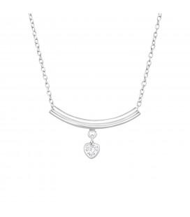 Elegáns ezüst nyaklánc szív függővel