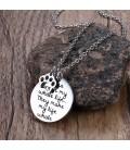 Nemesacél nyaklánc kutya imádóknak, felirattal - ezüst