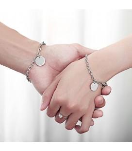 Gravírozható nemesacél karkötő szett - A szerelem köre