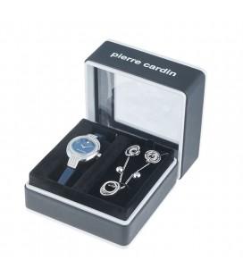 Pierre Cardin kék bőr szíjas karóra és ékszer szett  PCX5697L244