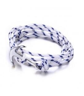 Páros nemesacél Anchor karkötő - kék-fehér