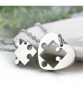 Puzzle, gravírozható közös nyaklánc szett