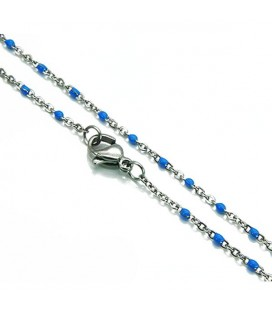 Vékony nemesacél nyaklánc apró gyöngyökkel (45cmx1,5mm)