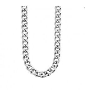 Sűrű láncszemes uniszex nemesacél nyaklánc  (60+5cmx2mm)