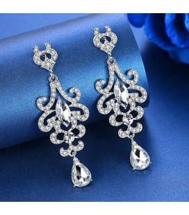 Exkluzív, kristályos menyasszony fülbevaló