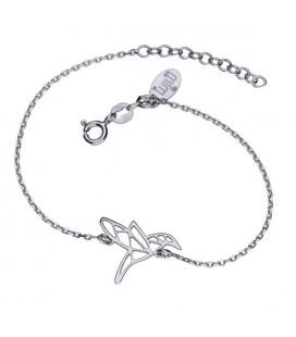 Origami kolibri charmos ezüst karkötő