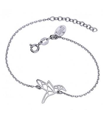 Origami kolibri ezüst karkötő