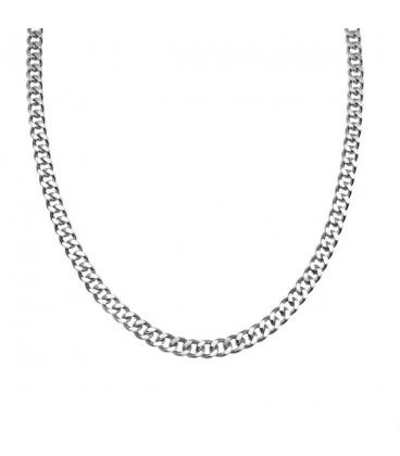Lapított szemes nemesacél nyaklánc ( 60 cm - 5 mm)