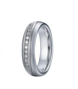 Kristálysoros, prémium nemesacél női karikagyűrű