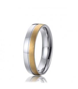 Exkluzív kéttónusú férfi nemesacél karikagyűrű