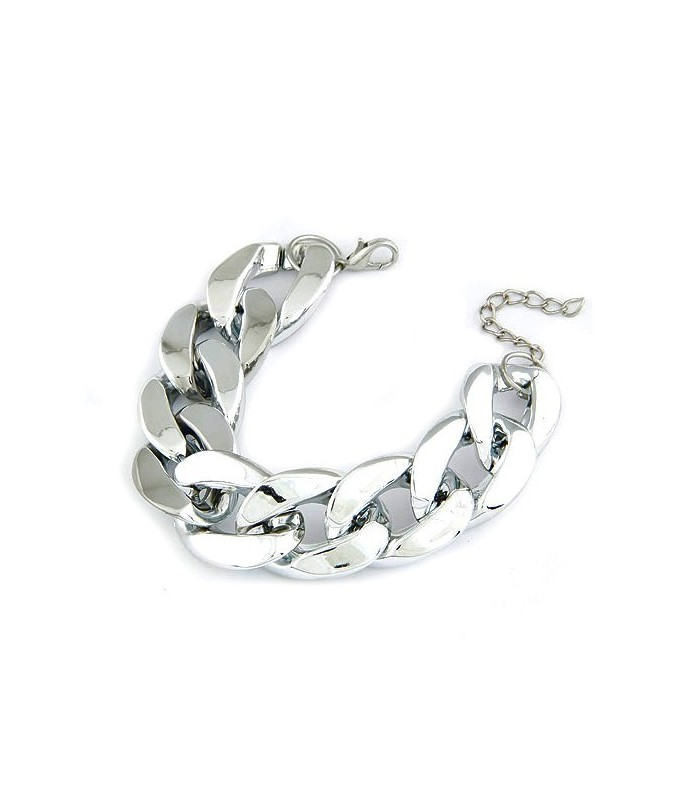 31d8fce73a Különleges Ezüst színű, vastag láncos bizsu karkötő olcsó áron az é...