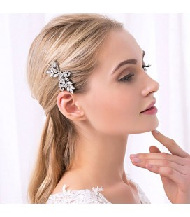 Elegáns, kristályos hajcsat menyasszonyoknak