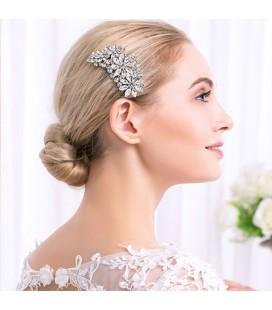Virág díszes, kristályos hajfésű menyasszonyoknak
