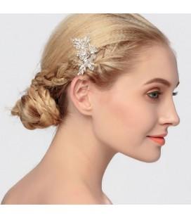 Kristálygyöngyös, romantikus esküvői hajfésű