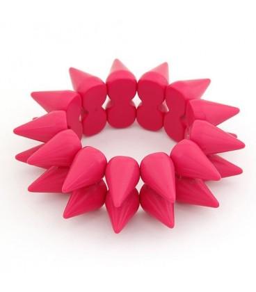 ékszer webshop Rózsaszín szegecses karkötő