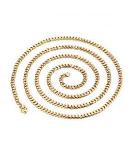 Sűrű láncszemes, aranyozott nemesacél nyaklánc (75 cm - 5 mm)