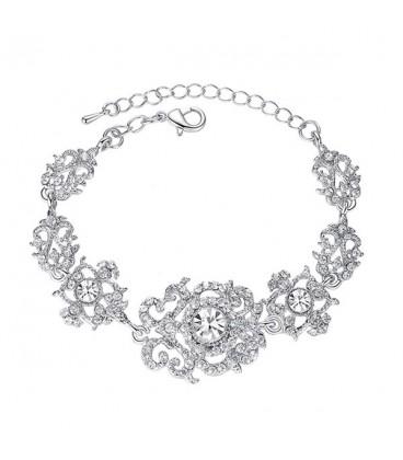 Barokk esküvői karkötő kristályokkal